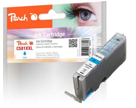 Original Peach cartouche d'encre XXL cyan, compatible avec Canon Pixma TR 7520