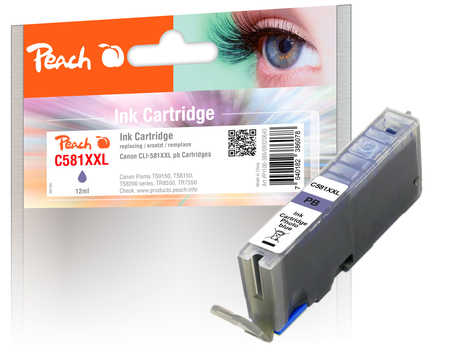 Original Peach cartouche d'encre XXL photo bleu, compatible avec Canon Pixma TS 9100 Series