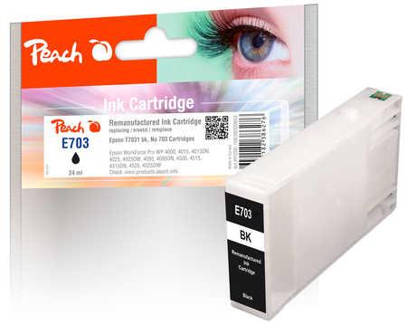 Original Cartouche d'encre Peach noir, compatible avec ID-Fabricant: T7031 Epson WorkForce Pro WP-4520