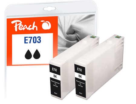 Original Peach Twin Pack cartouche d'encre noire, compatible avec ID-Fabricant: T7031*2 Epson WorkForce Pro WP-4520