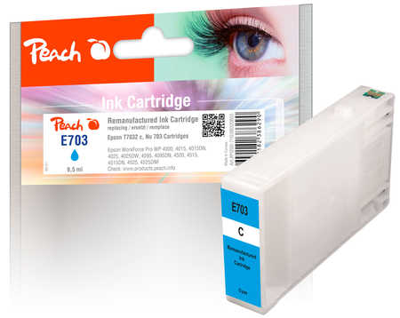 Original Cartouche d'encre Peach cyan, compatible avec ID-Fabricant: T7032 Epson WorkForce Pro WP-4520