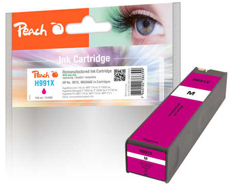Original Peach cartouche d'encre magenta extra HC compatible avec ID-Fabricant: No. 991X, M0J94AE HP PageWide Color 755 dn