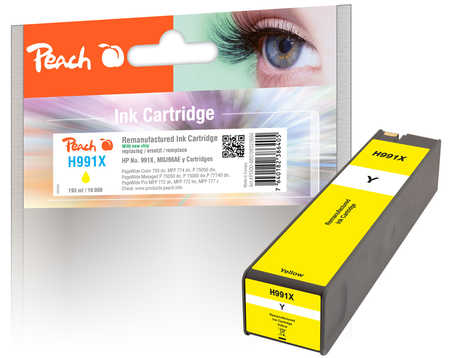 Original Peach cartouche d'encre jaune extra HC compatible avec ID-Fabricant: No. 991X, M0J98AE HP PageWide Color MFP 774 dn