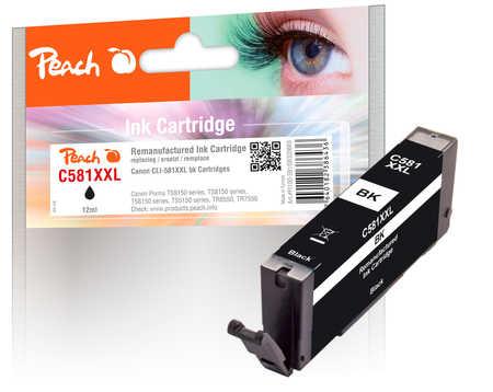 Original Peach cartouche d'encre XXL photoblack noire, compatible avec ID-Fabricant: CLI-581XXL bk Canon Pixma TR 7520