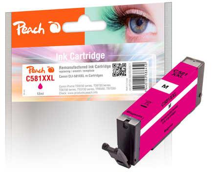 Original Peach cartouche d'encre XXL magenta, compatible avec ID-Fabricant: CLI-581XXL m Canon Pixma TR 7520
