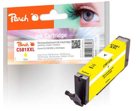 Original Peach cartouche d'encre XXL yellow, compatible avec ID-Fabricant: CLI-581XXL y Canon Pixma TR 7520