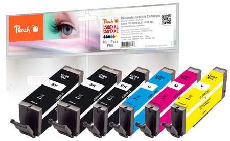 Original Peach Multipack Plus, XXL compatible avec ID-Fabricant: PGI-580XXL, CLI-581XXL Canon Pixma TR 7520