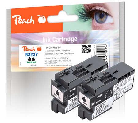 Peach  Twin Pack cartouche d'encre noire, compatible avec Brother HLJ 6100 DW