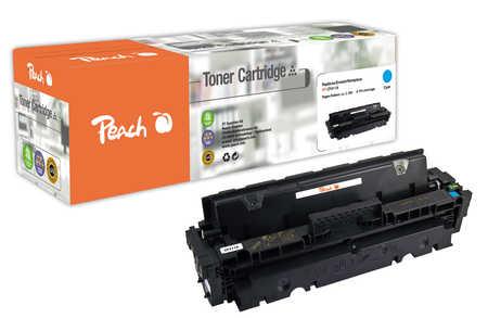 Peach  Cartouche de toner cyan, comapatible avec ID-Fabricant: 410A, CF411A HP Color LaserJet Pro MFP M 477 fnw