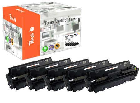 Peach Multipack Plus  compatible avec ID-Fabricant: CF410A*2, CF411A, CF412A, CF413A HP Color LaserJet Pro MFP M 477 fnw
