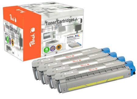 Peach Multipack , compatible avec ID-Fabricant: 46507508, 46507507, 46507506, 46507505 OKI C 612 N