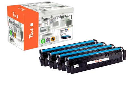 Peach Multipack , compatible avec ID-Fabricant: No. 203X HP Color LaserJet Pro M 254 dw