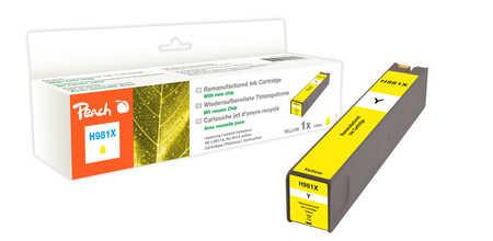 Peach  cartouche d'encre jaune HC compatible avec  ID-Fabricant: No. 981X, L0R11A HP PageWide Enterprise Color Flow MFP 586 dn