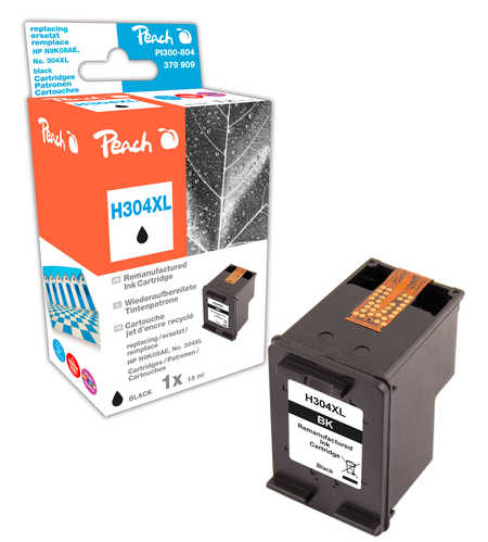 Peach  tête d'impression noire compatible avec ID-Fabricant: No. 304XL bk, N9K08AE HP DeskJet 3720
