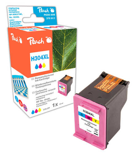 Peach Tête d'impression  couleur, compatible avec ID-Fabricant: No. 304XL col, N9K07AE HP DeskJet 3720