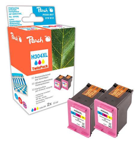 Peach  Double Pack tête d'impression couleur, compatible avec ID-Fabricant: No. 304XL col, N9K07AE HP DeskJet 3720