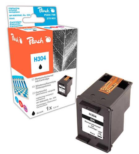 Peach  tête d'impression noire compatible avec ID-Fabricant: No. 304 bk, N9K06AE HP DeskJet 3720