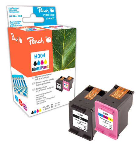 Peach  Multipack compatible avec ID-Fabricant: No. 304 HP DeskJet 3720