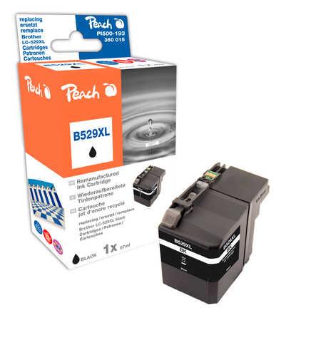 Peach Cartouche d'encre  noir XL, compatible avec ID-Fabricant: LC-529XL BK Brother DCPJ 100