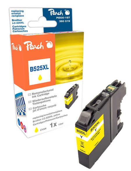 Peach Cartouche d'encre  jaune XL, compatible avec ID-Fabricant: LC-525XL Y Brother DCPJ 100