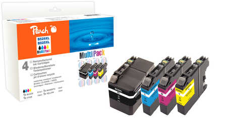 Peach Multipack , compatible avec ID-Fabricant: LC-529, LC-525XL Brother DCPJ 100