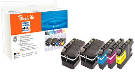 Peach Multipack Plus  compatible avec ID-Fabricant: LC-529, LC-525XL Brother DCPJ 100