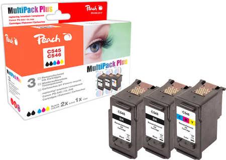 Peach  Combi Pack compatible avec ID-Fabricant: PG-545*2, CL-546 Canon Pixma MG 2455
