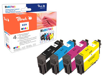 Peach  Multi Pack, compatible avec ID-Fabricant: No. 29, T2986 Epson Expression Home XP-452