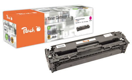 Peach  Cartouche de toner magenta, comapatible avec ID-Fabricant: No. 128A, CE323A HP LaserJet Pro CP 1525