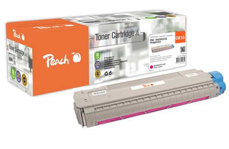 Peach  Cartouche de toner magenta, comapatible avec ID-Fabricant: 44059106 OKI C 830 CDTN