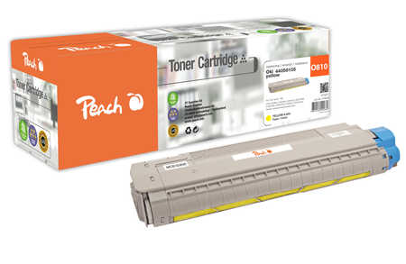 Peach  Cartouche de toner jaune, comapatible avec ID-Fabricant: 44059105 OKI C 830 CDTN