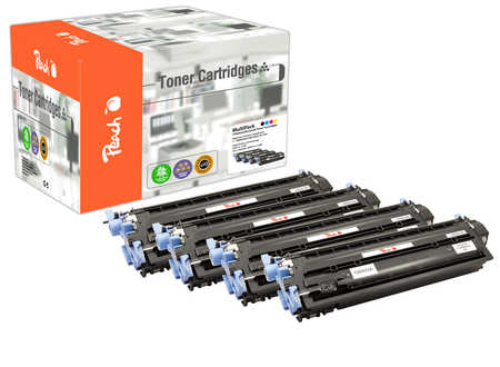 Peach Multipack , compatible avec ID-Fabricant: No. 124A HP Color LaserJet 2600