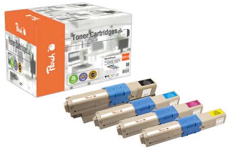 Peach Multipack , compatible avec ID-Fabricant: 44469803, 44469704, 44469705, 44469706 OKI C 531 DN