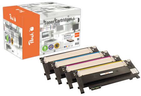 Peach Multipack , compatible avec ID-Fabricant: CLT-4072 Samsung CLP-320 N