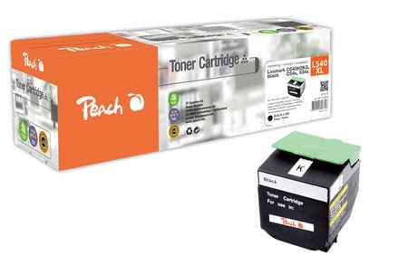 Peach  Toner Module noire, compatible avec ID-Fabricant: C540H2KG, C54x, X54x Lexmark C 544 DN