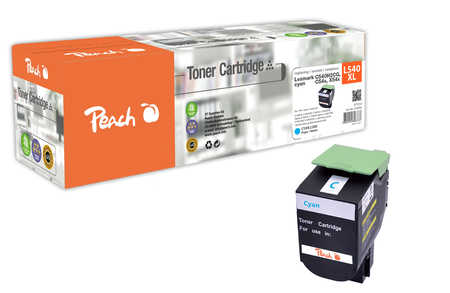 Peach  Toner Module cyan, compatible avec ID-Fabricant: C540H2CG, C54x, X54x Lexmark C 544 DN