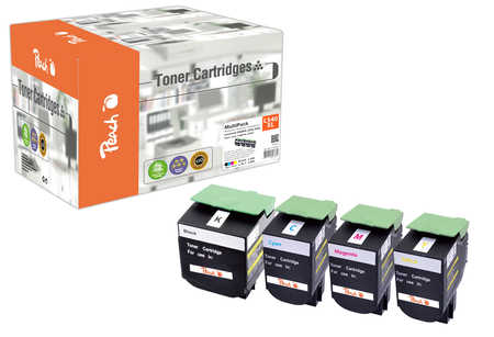 Peach Multipack , compatible avec ID-Fabricant: C540H2, C54x, X54x Lexmark Optra C 544 DTN