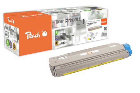 Peach  Toner Module jaune, compatible avec ID-Fabricant: 43487709 OKI C 8600 N