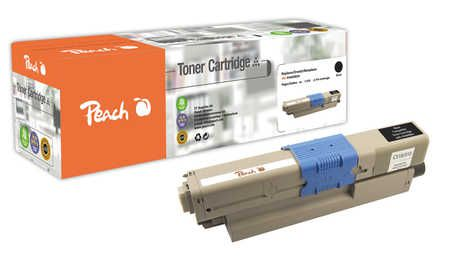 Peach  Toner Module noire, compatible avec ID-Fabricant: 44469804 OKI C 530 DN
