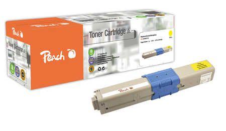 Peach  Toner Module jaune, compatible avec ID-Fabricant: 44469722 OKI C 530 DN