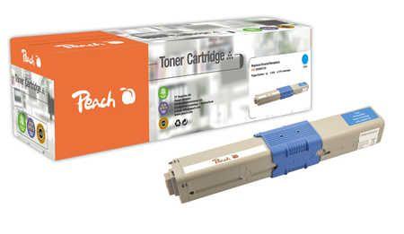 Peach  Toner Module cyan, compatible avec ID-Fabricant: 44469724 OKI C 530 DN