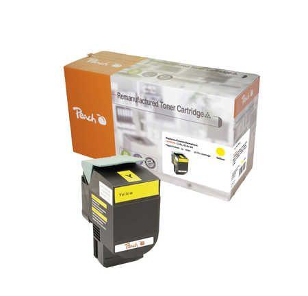Peach  Toner Module jaune, compatible avec ID-Fabricant: C544X2YG, C544, X544 Lexmark Optra C 544 DTN