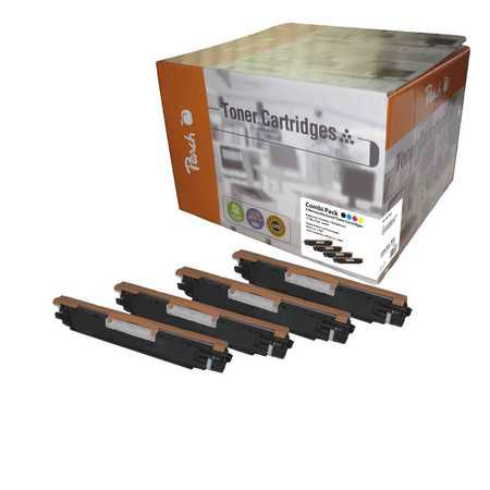 Peach Multipack , compatible avec ID-Fabricant: No. 130A series HP Color LaserJet Pro MFP M 176 n
