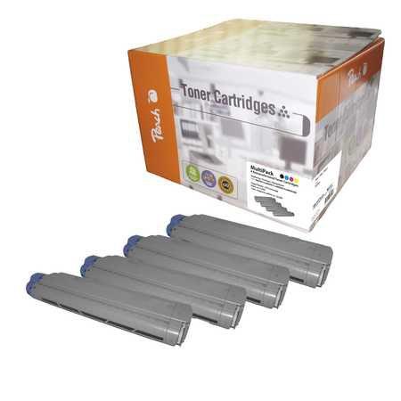 Peach Multipack , compatible avec ID-Fabricant: MC860-series OKI MC 860 DN
