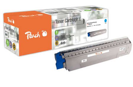 Peach  Toner Module cyan, compatible avec ID-Fabricant: MC851, 44059167 OKI MC 862 CDTN