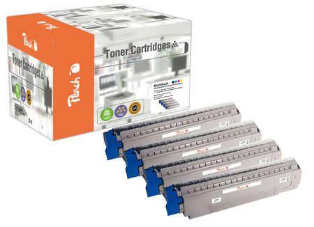 Peach Multipack , compatible avec ID-Fabricant: MC851-Series OKI MC 862 CDTN
