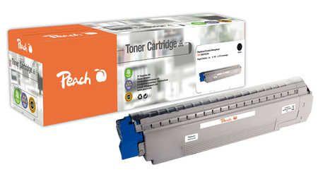 Peach  Toner Module noire, compatible avec ID-Fabricant: C861, 44059256 OKI MC 862 CDTN