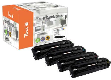 Peach Multipack , compatible avec ID-Fabricant: 410X, CF410-3X HP Color LaserJet Pro MFP M 477 fnw