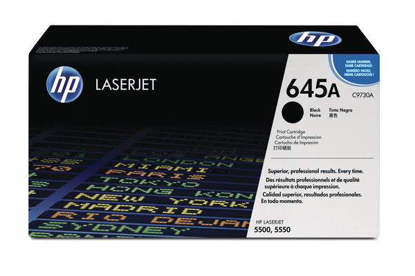 Original Cartouche de toner noir originale ID-Fabricant: No. 645, C9730A HP Color LaserJet 5500