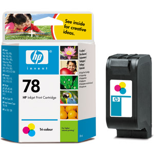 Original Cartouche d'encre couleur originale ID-Fabricant: No. 78, C6578A HP Digital Copier 310